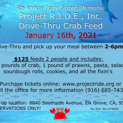 Project RIDE Annual Crab Feed - January 16, 2021
